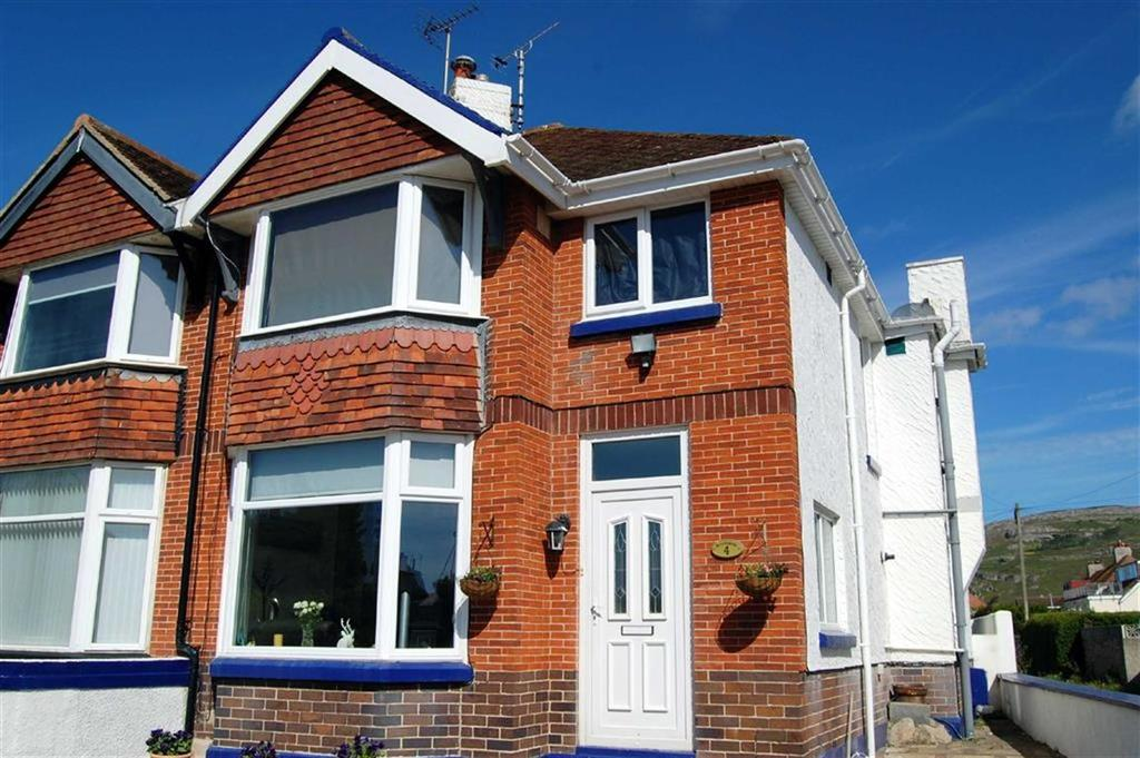 4 Bedrooms Semi Detached House for sale in Trinity Crescent, West Shore, Llandudno, Conwy