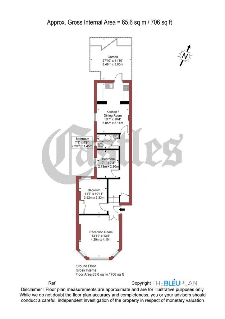 Floorplan: Nightingale Lane, N8