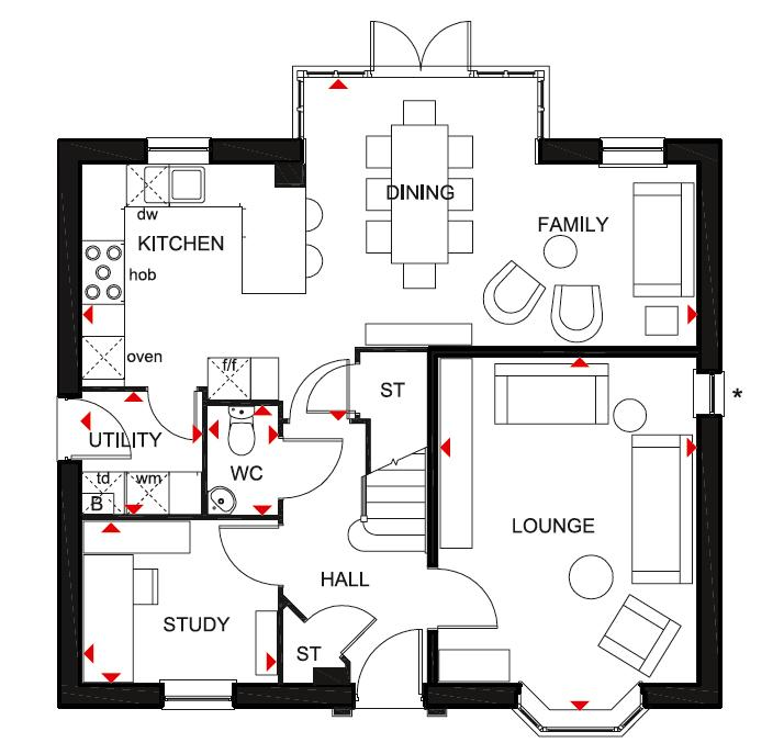 Floorplan 1 of 2: Bradgate  7 GF