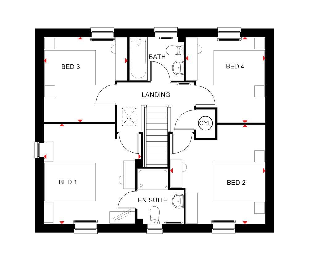 Floorplan 2 of 2: Bradgate first floor