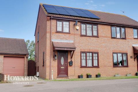 3 bedroom semi-detached house for sale - Chaukers Crescent, Lowestoft
