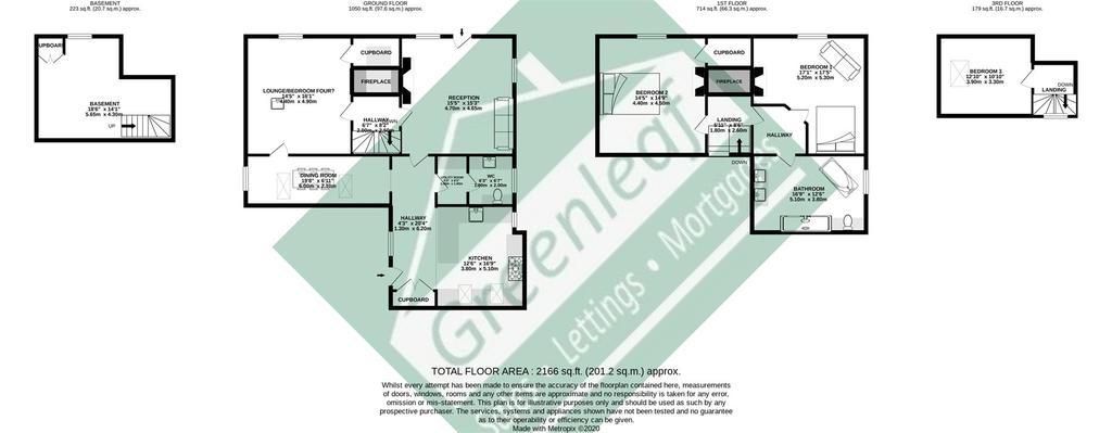 Floorplan: 1 Boxley Cottage Ashford Road Maidstone Kent ME14