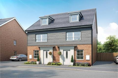 4 bedroom end of terrace house for sale - Plot 22, Kingsville at Canal Quarter at Kingsbrook, Burcott Lane, Aylesbury, AYLESBURY HP22