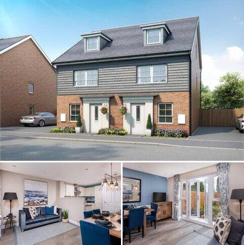 4 bedroom end of terrace house for sale - Plot 22, Kingsville at Canal Quarter at Kingsbrook, Burcott Lane, Aylesbury, AYLESBURY HP22