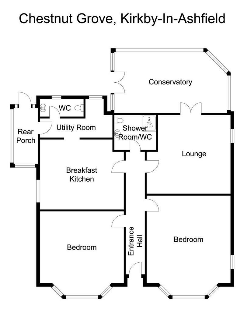 Floorplan: 2 Chestnut Grove, Kirkby in Ashfield Floor plan.jp