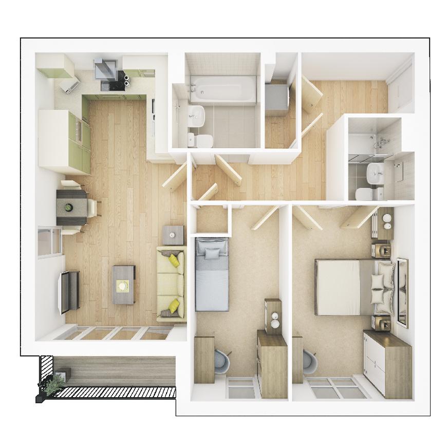 Floorplan: 39297 plot 362 366 fp 872 x872