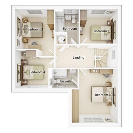 Floorplan 2 of 2: Fp2 evesham