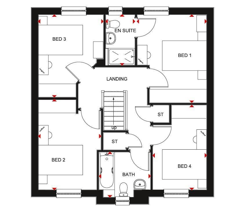 Floorplan 2 of 2: Fenton first floor