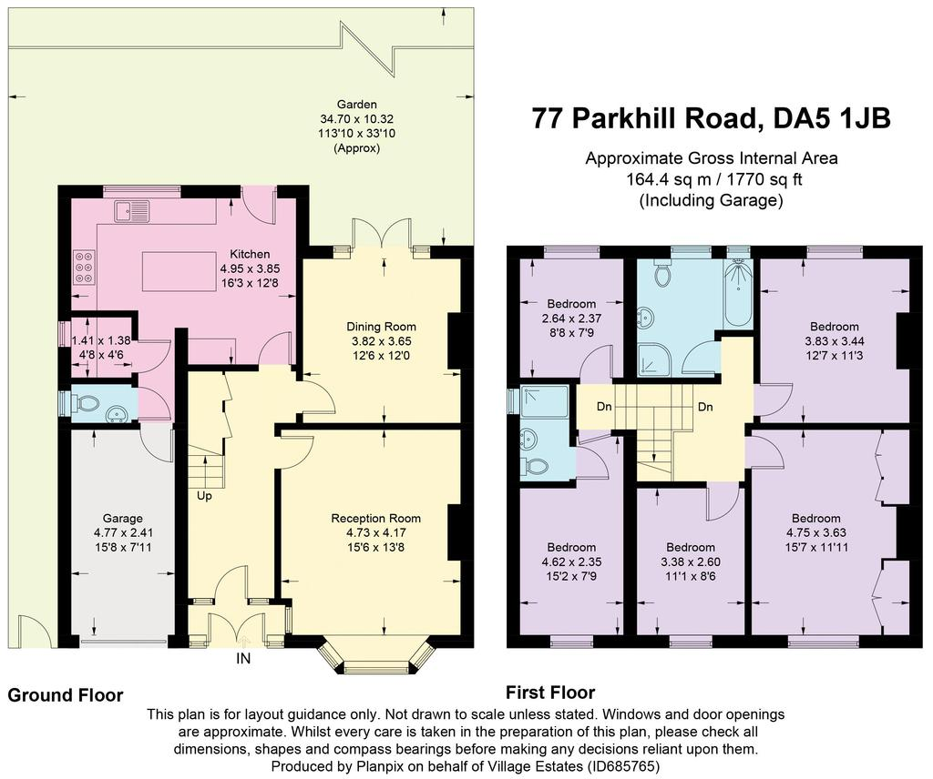 Floorplan: 77 Parkhill Road