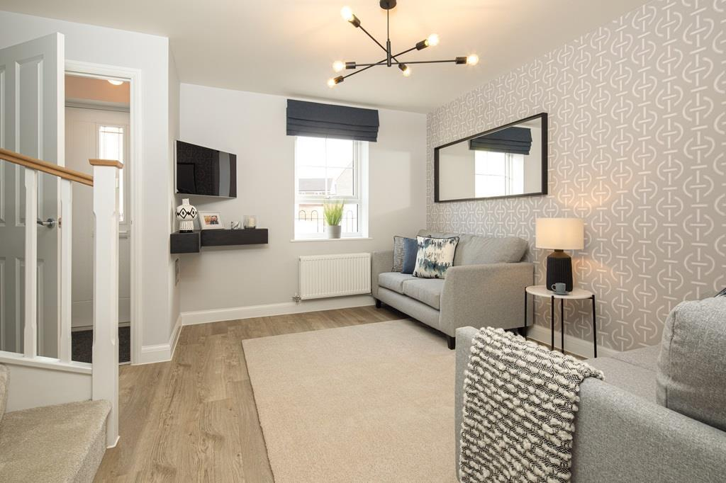 Internal image of the lounge in the Kenley Show Home at Birds Marsh View, Chippenham