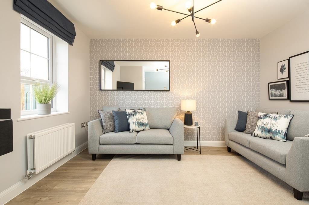 Lounge internal image of the Kenley Show Home at Birds Marsh View, Chippenham
