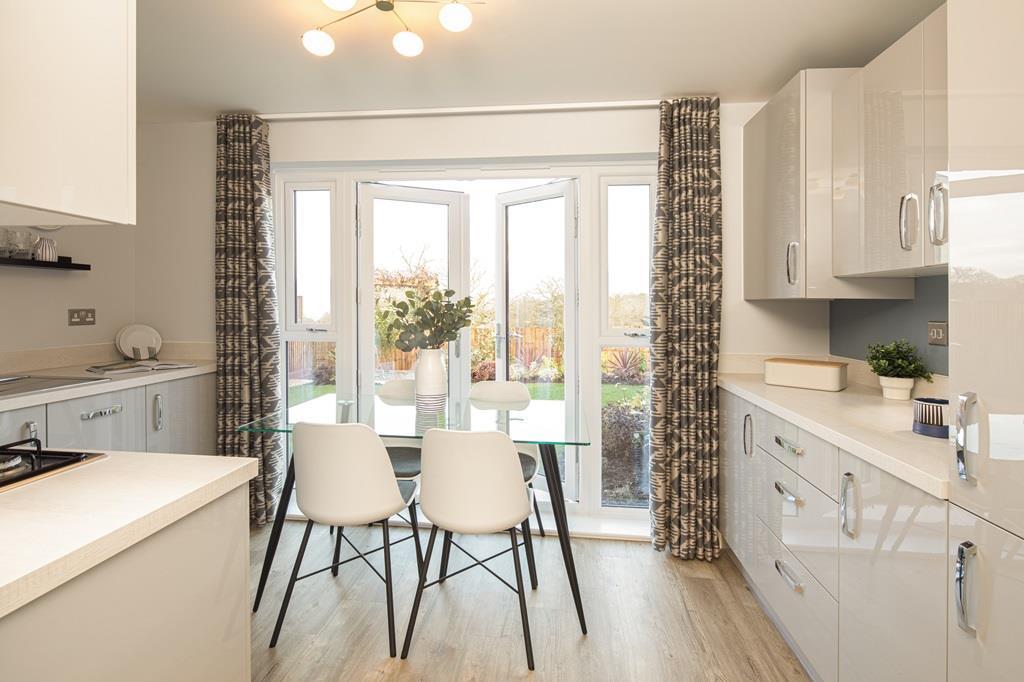 Kitchen internal of the Kenley Show Home at Birds Marsh View, Chippenham