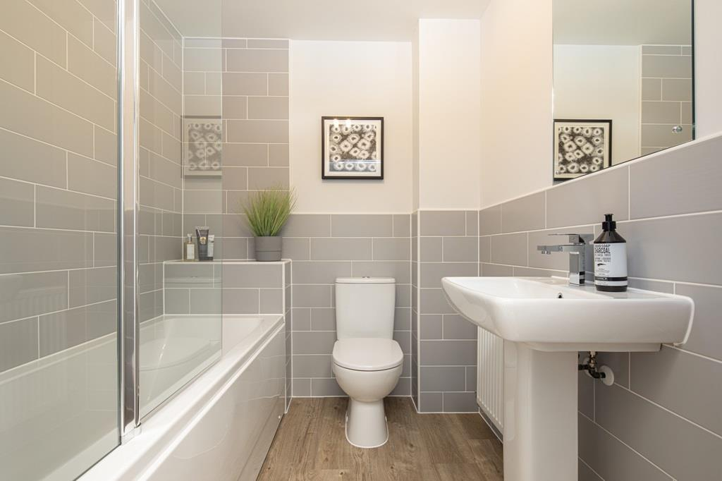 Internal image of the family bathroom in the Kenley Show Home at Birds Marsh View, Chippenham