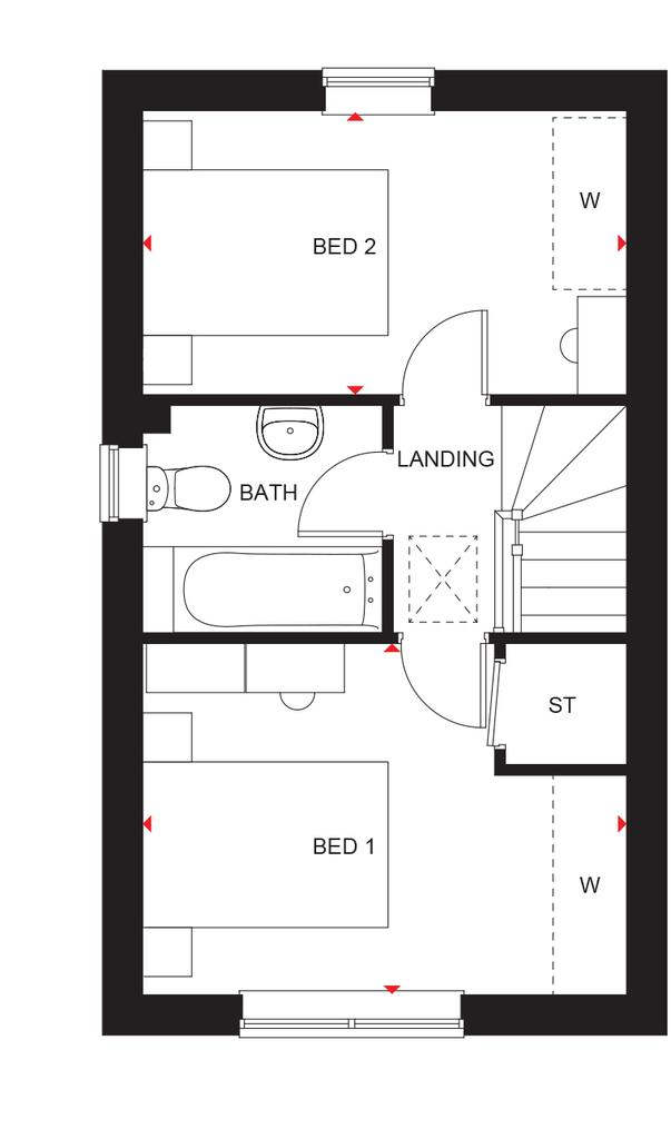 Floorplan 2 of 2: Kenley first floor