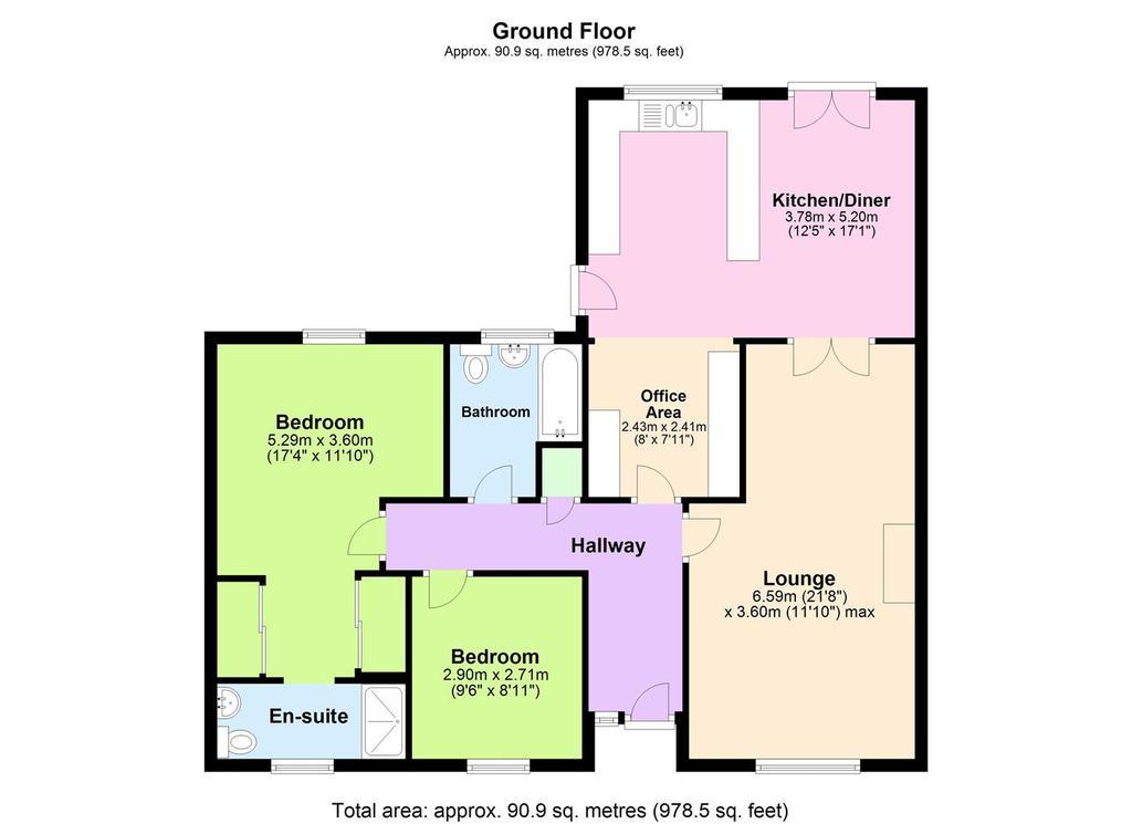 Floorplan: Carnanton, Carnkie.JPG