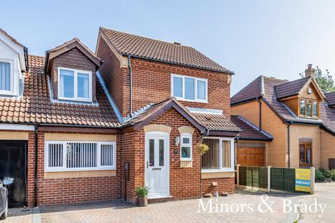 3 bedroom link detached house for sale - Long Barrow Drive, North Walsham