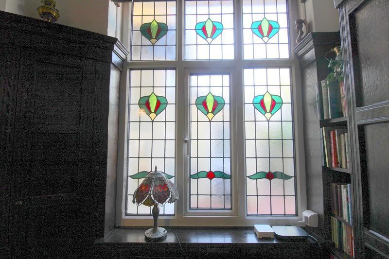 Hallway stained glass window