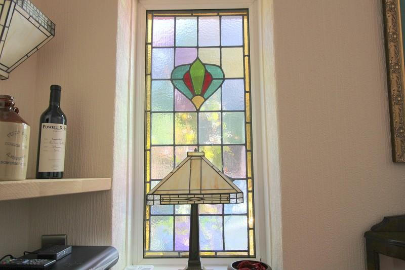Lounge stained glass window