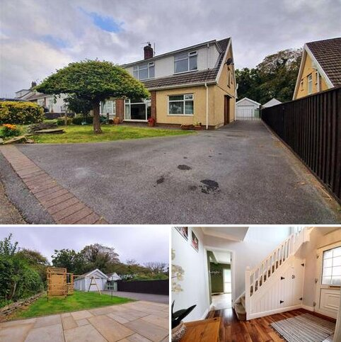 4 bedroom semi-detached house for sale - Woodfield Avenue, Pontlliw, Swansea