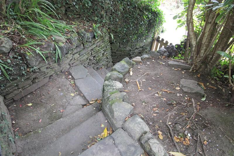 Pathway leading to front of property