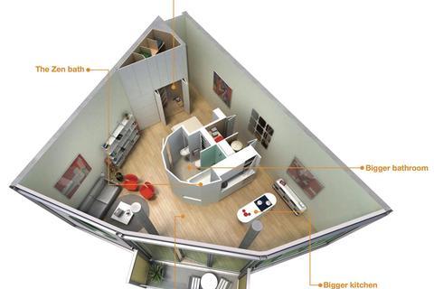 Studio to rent - Abito 85 Greengate Salford