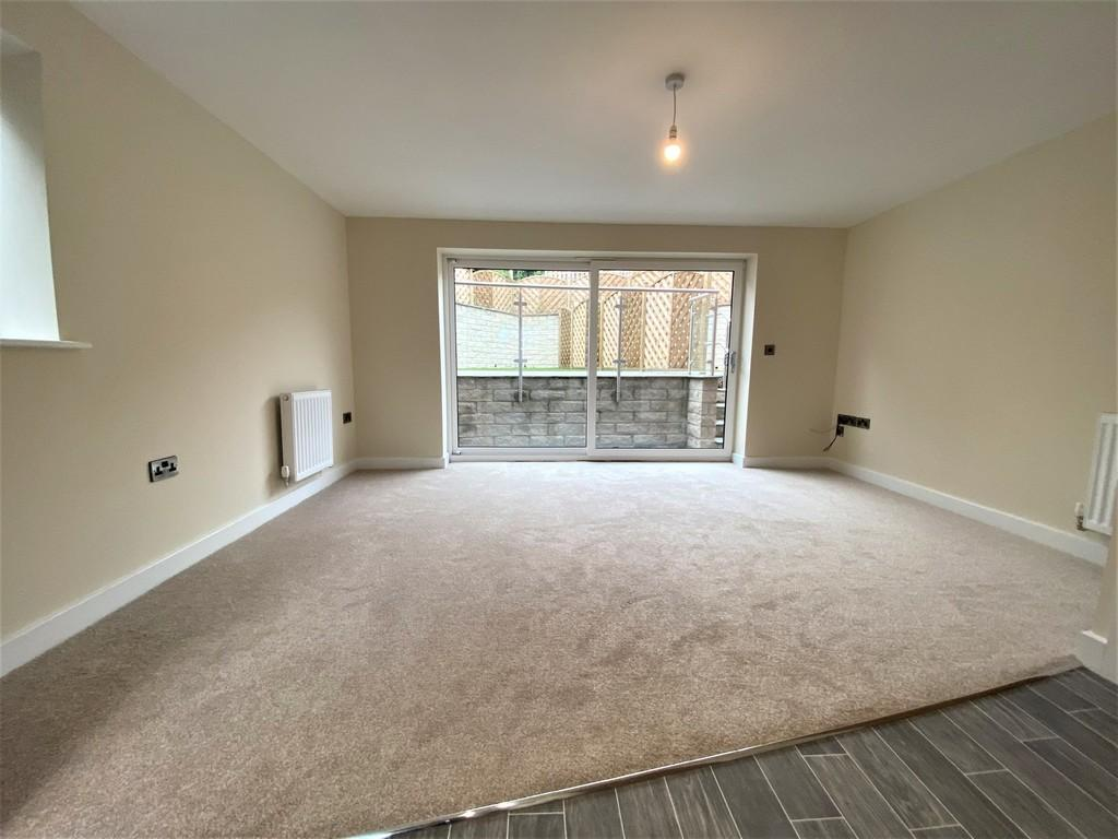 Open plan lounge, kitchen and dining room