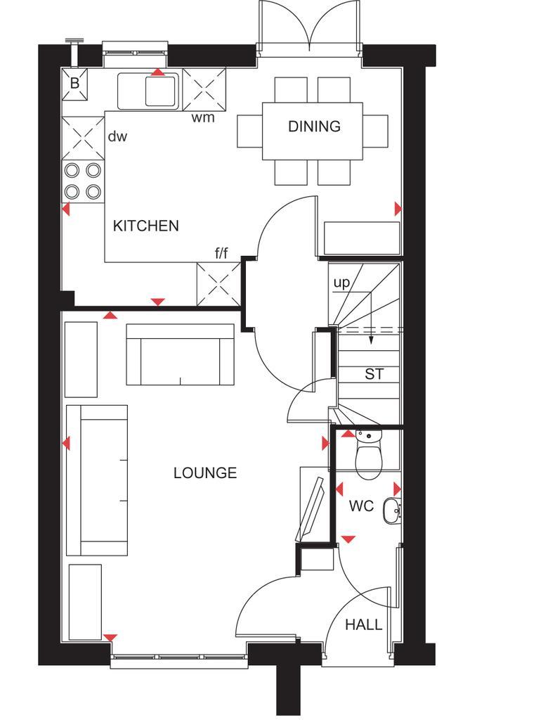 Floorplan 1 of 2: Archford ground floor