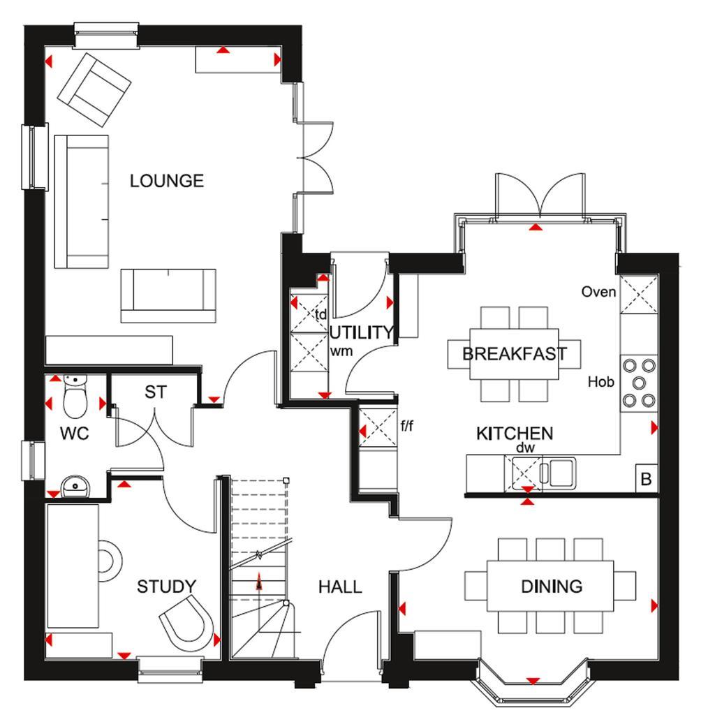 Floorplan 1 of 2: Layton GF Plan