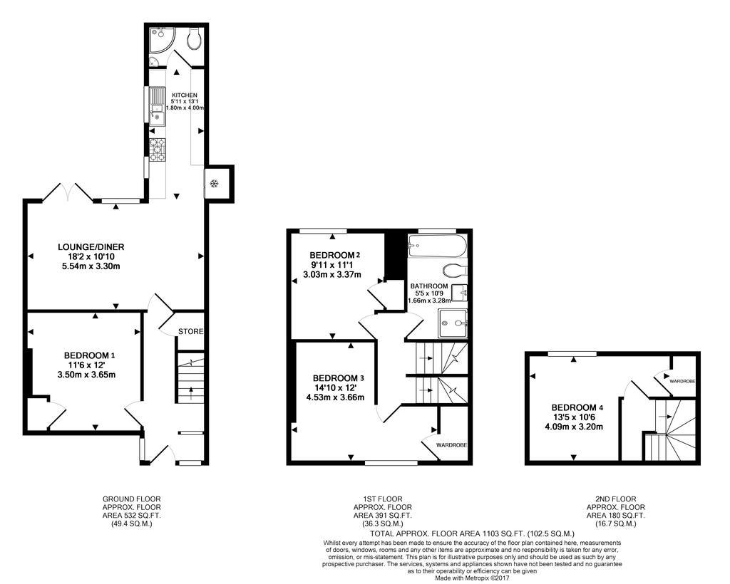 Floorplan 1 of 2: 40 Dovecote Floor Plan