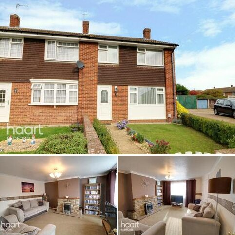3 bedroom end of terrace house for sale - Saddle Close, Bedford