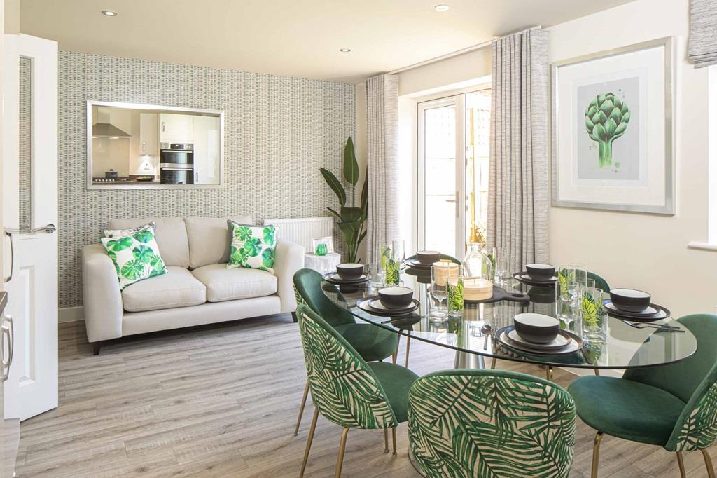 David Wilson Homes, Bayswater housetype, Kitchen and dining room with French doors