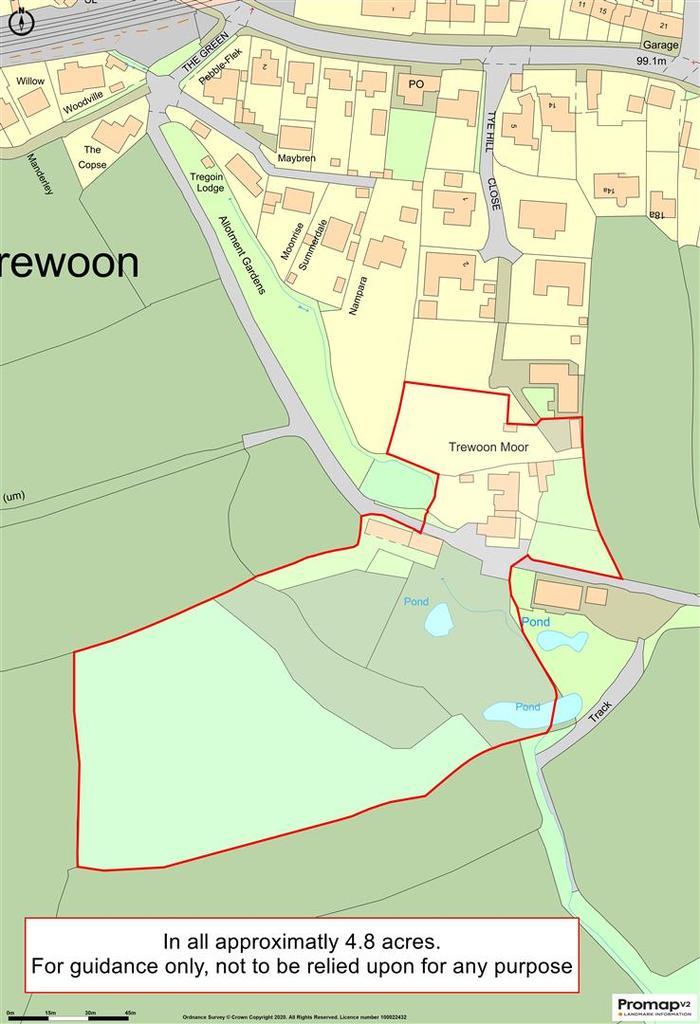 Floorplan: Tye Farm land plan