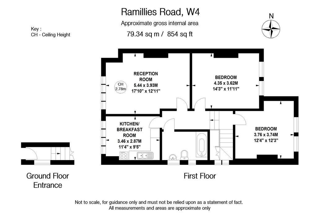 Floorplan: Ramillies Road W4