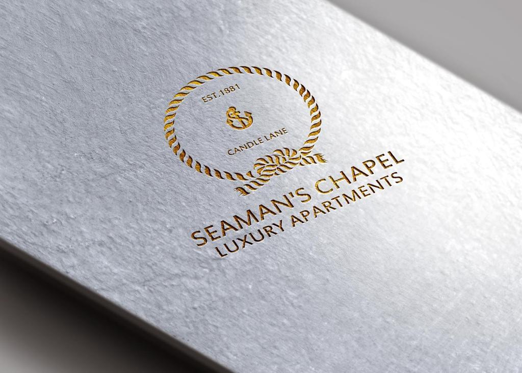 Seaman's   Embossed Gold on white Folder