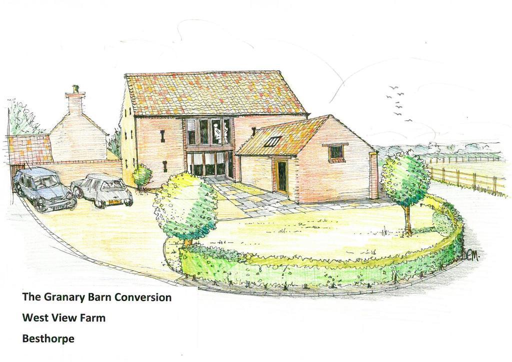 The granary conversion   artists impression