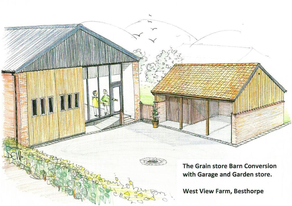 The grain store conversion   artists impression