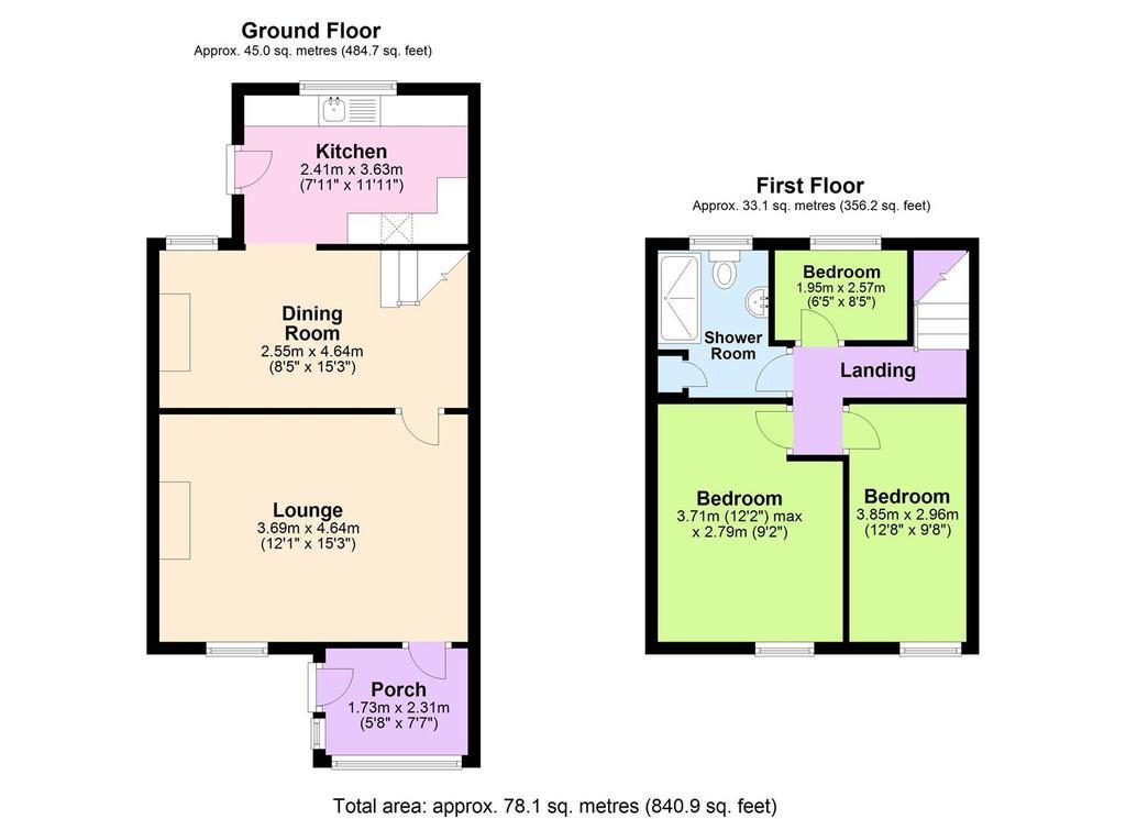 Floorplan: 5 Murtons Terrace, Lanner.JPG