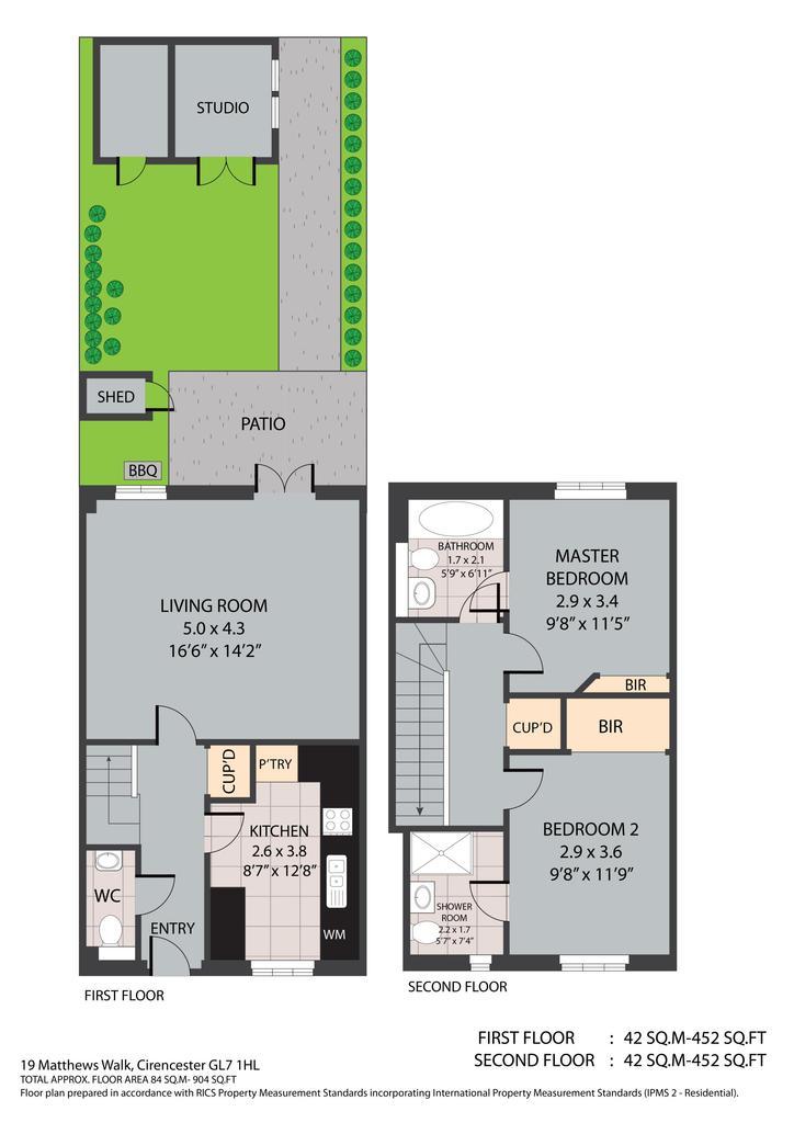 Floorplan: 0 19 Matthews Walk  Cirencester GL7 1 HL