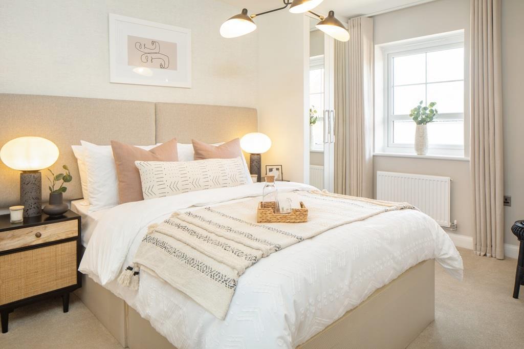 Inside view of the en suite main bedroom in the Maidstone. 3 bedroom home.