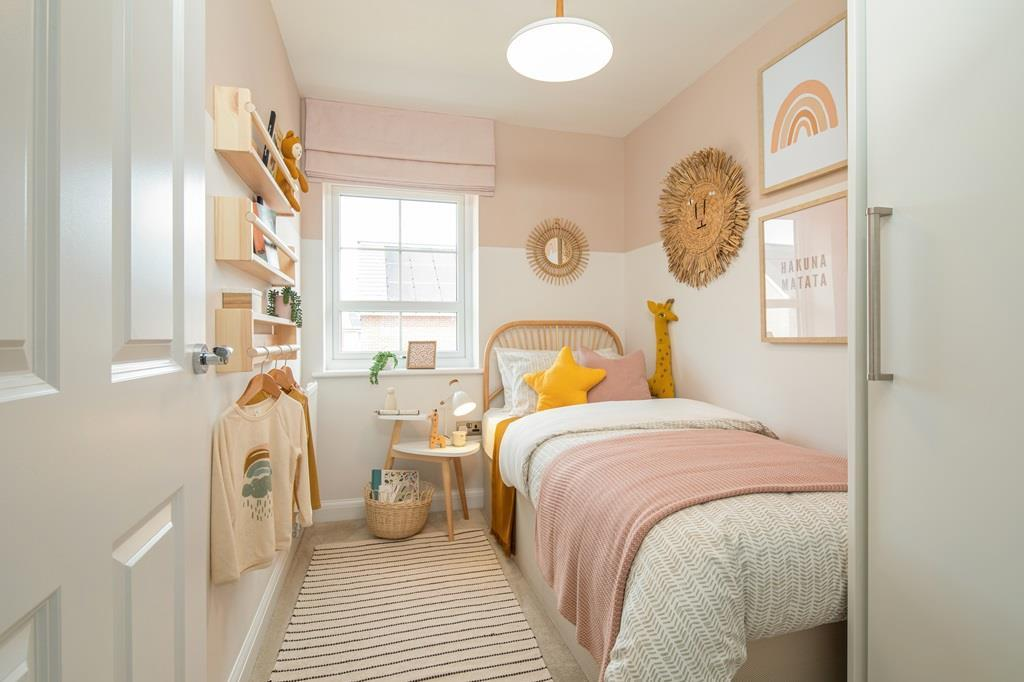 Inside view of the single bedroom in the Maidstone.