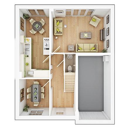 Floorplan 1 of 2: Bradenham gf
