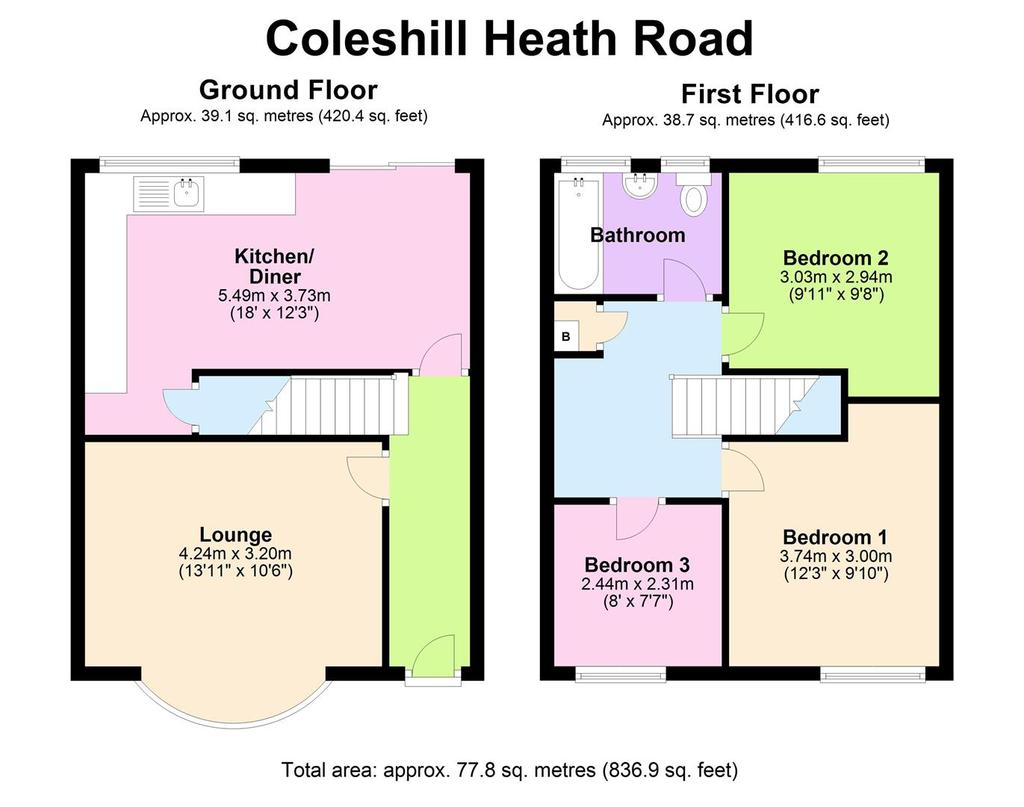 Floorplan: 166 Coleshill Heath Rd   Floorplan.JPG
