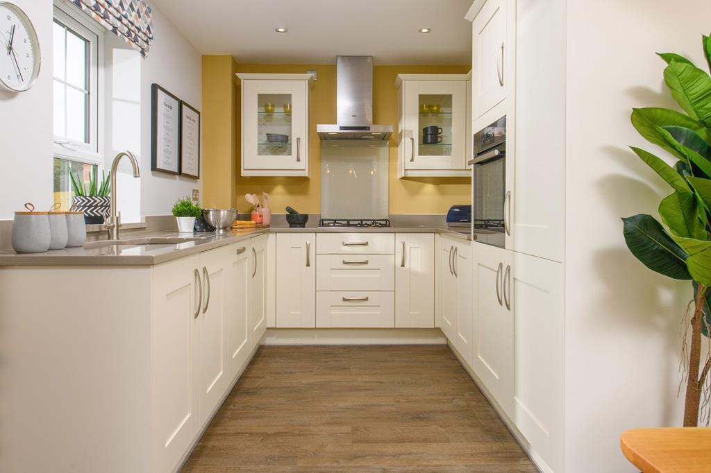 Fitted kitchen in Abbeydale 3 bedroom Show Home