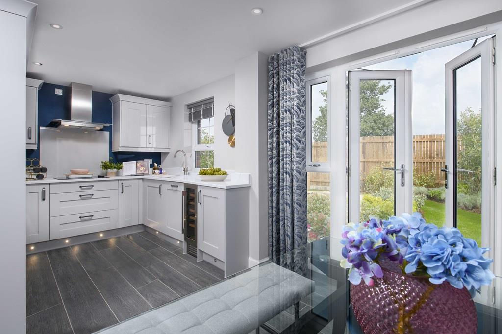 Ripon Show Home kitchen with French doors