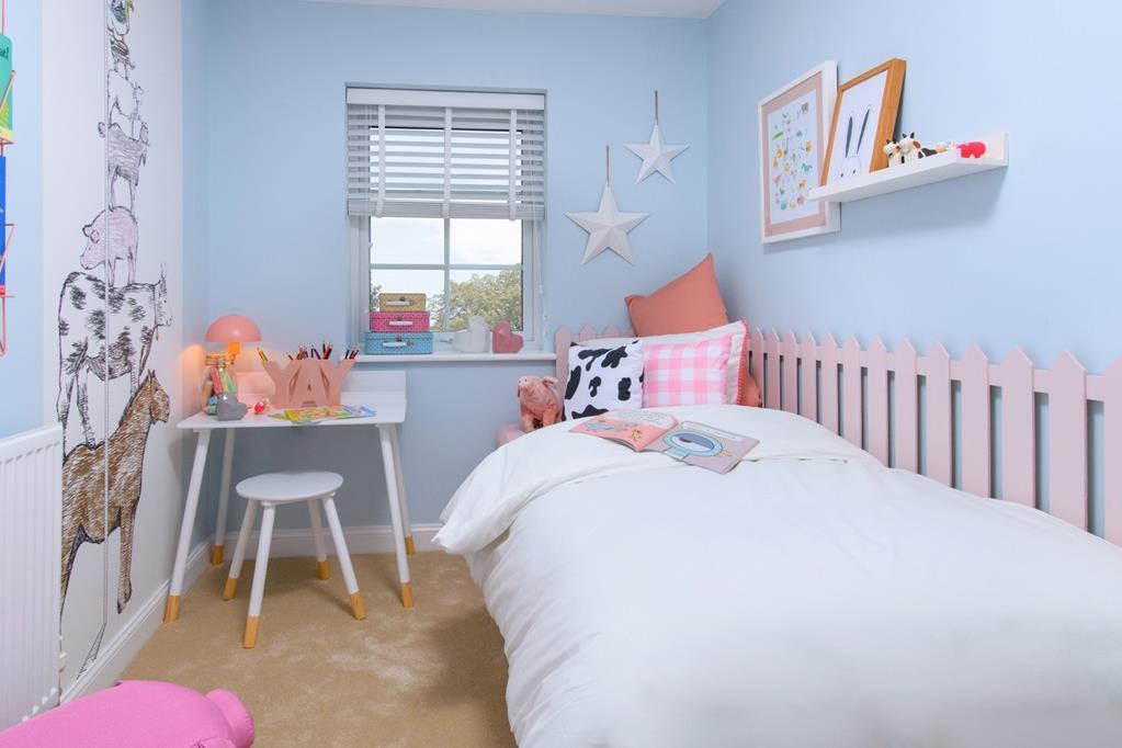 Single bedroom inside Ellerton home