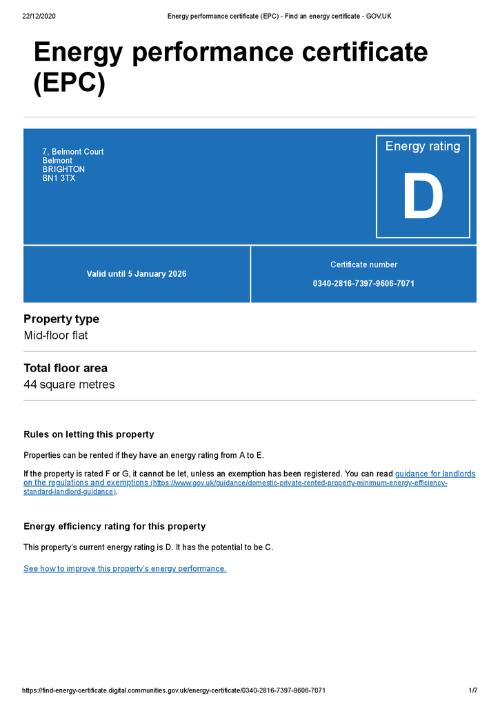 EPC Certificate