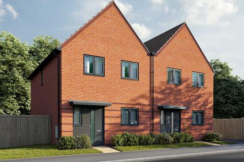 3 bedroom terraced house - Plot 27, The Eveleigh A at All Angels Park, Land off Grafton Drive, Highfields Caldecote CB23