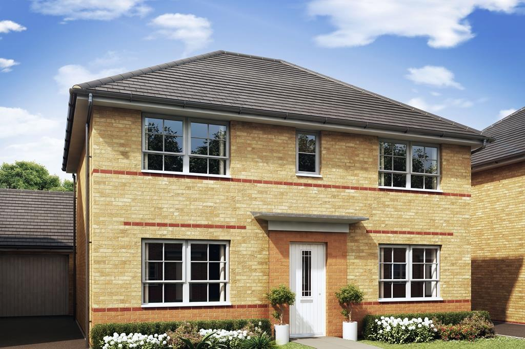 Thornton 4 bedroom home external outside view CGI