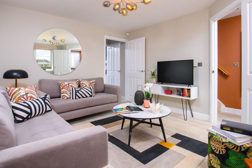 Lounge inside Ellerton home
