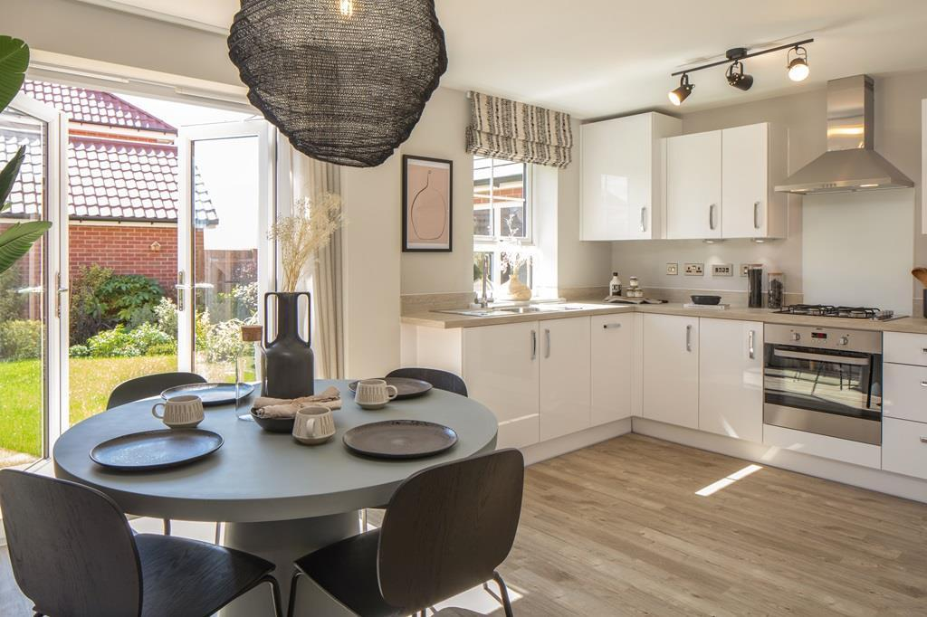 Internal image of the kitchen in the Maidstone show home at Blackberry Park, Coalpit Heath.